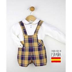 Conjunto de 2 piezas bebé camisa ml + pantalones cortos con tirantes-TBI-23262-Tony Bambino
