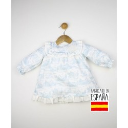 Vestido bebé manga larga elástico puños-TBI-23308-Tony Bambino