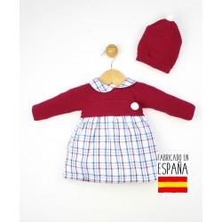 Conjunto bebé 2 piezas: vestido+gorro-TBI-23750-Tony Bambino