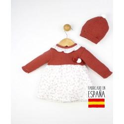 Conjunto bebé 2 piezas: vestido+gorro-TBI-23755-Tony Bambino