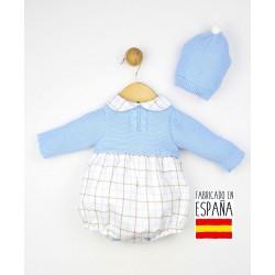 Conjunto bebé 2 piezas: jesusito+gorro-TBI-23764-Tony Bambino