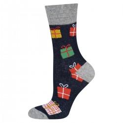 Calcetines motivo/texto navideño