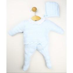Conjunto punto bebé con capota-23416 Popys