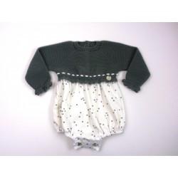 PBI-2031-Ciruela fabricantes de ropa de bebe Pelele manga