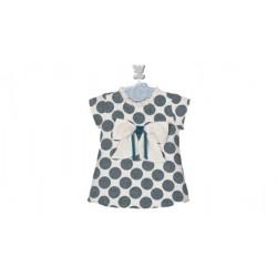 Comprar ropa de niño online Vestido topos manga corta detalle