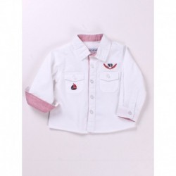 Camisa manga larga popelin 100% algodón