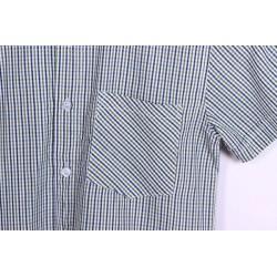 Camisa popelin manga corta cuadros