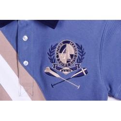 Polo manga corta bicolor detalles bordados 100% algodón