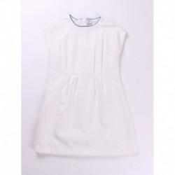 Vestido manga corta 65% poliester 35% algodón