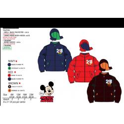 Abrigo microfibra con capucha Mickey