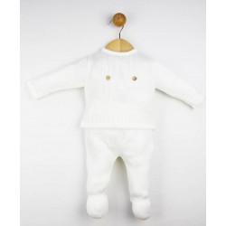 Conjunto punto bebé 2 piezas cuello volante-Tony Bambino