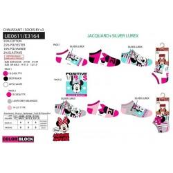 Pack 3 calcetines bajos minnie-SCV-UE0611-MINNIE