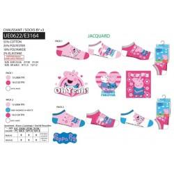 Pack 3 calcetines bajos peppa pig-SCV-UE0622-PEPPA PIG