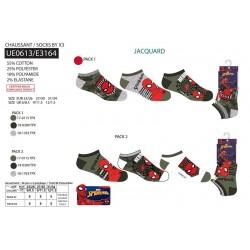 Pack 3 calcetines bajos spiderman-SCV-UE0613-SPIDERMAN