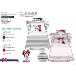 Conjunto vestido&cinta pelo algodón minnie-SCV-UE0076-MINNIE