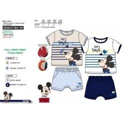 Conjunto 2 piezas short camiseta manga corta algodón mickey-SCV-UE0037-MICKEY