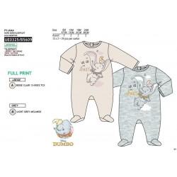 Pelele manga larga 100% algodón dumbo-SCV-UE0325-DUMBO