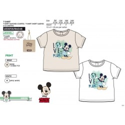 Camiseta manga corta 100% algodón orgánico mickey-SCV-UE0058-MICKEY