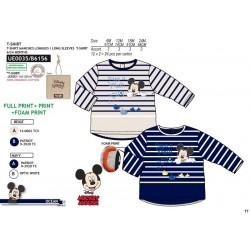 Camiseta manga larga 100% algodón orgánico mickey-SCV-UE0035-MICKEY