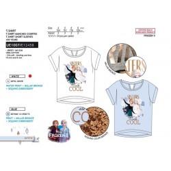 Camiseta manga corta 100% algodón frozen-SCV-UE1007-FROZEN