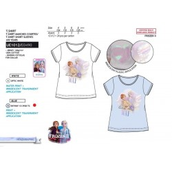 Camiseta manga corta 100% algodón frozen-SCV-UE1012-FROZEN