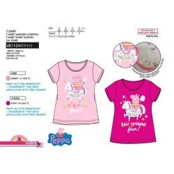 Camiseta manga corta 100% algodón peppa pig-SCV-UE1124-PEPPA PIG