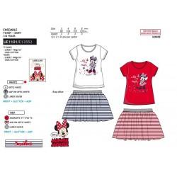 Conjunto camiseta manga corta & falda 100% algodón minnie-SCV-UE1101-MINNIE