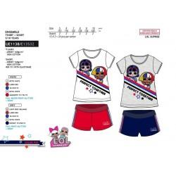 Conjunto camiseta manga corta & short 100% algodón lol surprise-SCV-UE1138-LOL SURPRISE