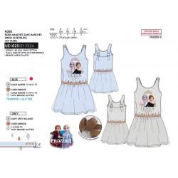 Vestido desmangado 100% algodon frozen-SCV-UE1025-FROZEN
