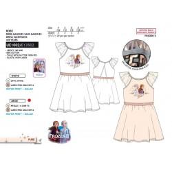 Vestido manga corta 100% algodón frozen-SCV-UE1002-FROZEN