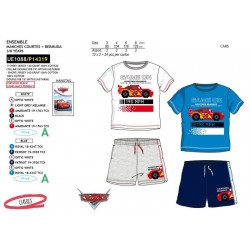 Conjunto camiseta manga corta & short 100% algodón cars-SCV-UE1088-CARS