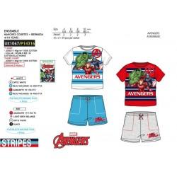 Conjunto camiseta manga corta & short 100% algodón los vengadores-SCV-UE1067-AVENGERS C