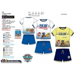 Conjunto camiseta manga corta & short 100% algodón patrulla canina-SCV-UE1151-PATRULLA CANINA