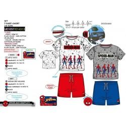 Conjunto camiseta manga corta & short 100% algodón spiderman-SCV-UE1057-SPIDERMAN