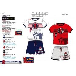 Conjunto camiseta manga corta & short 100% algodón spiderman-SCV-UE1104-SPIDERMAN
