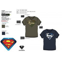 Camiseta manga corta 100% algodón superman-SCV-ER3529-SUPERMAN