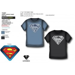 Camiseta manga corta 100% algodón superman-SCV-ER3532-SUPERMAN