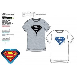 Camiseta manga corta 100% algodón superman-SCV-ER3537-SUPERMAN