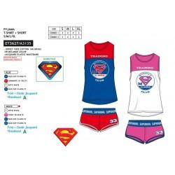 Pijama corto, camiseta mc&short 100% algodón superman-SCV-ET3627-SUPERMAN