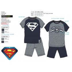 Pijama corto, camiseta mc&short 100% algodón superman-SCV-ET3531-SUPERMAN