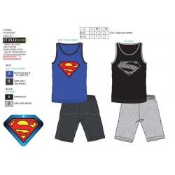 Pijama corto, camiseta tirantes&short 100% algodón superman-SCV-ET3532-SUPERMAN