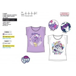 Camiseta manga corta 100% algodón mi pequeño pony-SCV-ET1265-MY LITTLE PONY