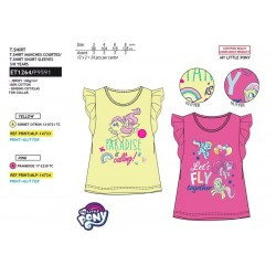 Camiseta manga corta 100% algodón mi pequeño pony-SCV-ET1264-MY LITTLE PONY