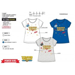 Camiseta manga corta 100% algodón wonder woman-SCV-SE1288-WONDER WOMAN