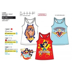 Camiseta tirantes 100% algodón dc super hero girls-SCV-ER1490-DC SUPER HERO GIRLS