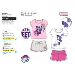 Cojunto camiseta manga corta & short 100% algodón mi pequeño pony-SCV-ET1268-MY LITTLE PONY