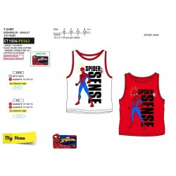 Camiseta tirantes 100% algodón spiderman-SCV-ET1006-SPIDERMAN