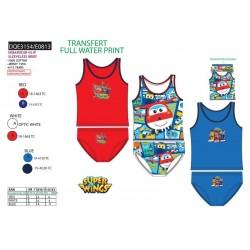 Conjunto camiseta tirantes&slip 100% algodón super wing-SCV-DQE3154-SUPER WING