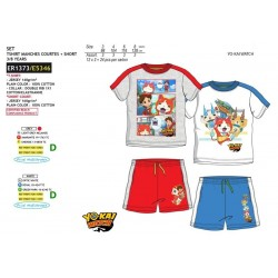 Conjunto short & camiseta manga corta 100% algodón yokai-SCV-ER1373-YOKAI WATC