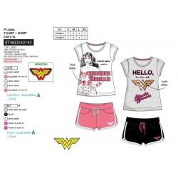 Pijama corto, camiseta mc&short wonder woman-SCV-ET3622-WONDER WOMAN
